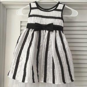 Black & White Taffeta Party Dress